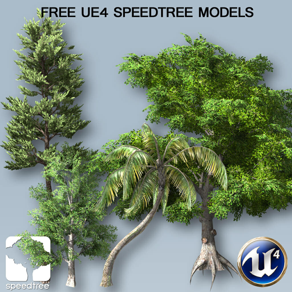 Free SpeedTree Model Bundle for UE4 Subscription – SpeedTree