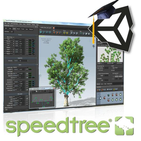 SpeedTree® Modeler for Unity Academic